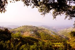 Typical landscape close to Grasse (France) Stock Photography