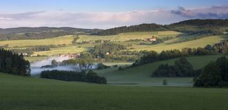 Typical Landscape of Czech Countryside Royalty Free Stock Image