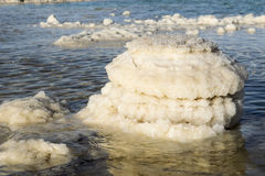 Typical landscape of the dead sea, Israel Royalty Free Stock Photo