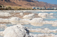 Typical landscape of the dead sea, Israel Royalty Free Stock Photos
