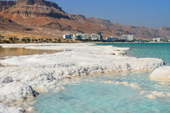 Typical landscape of the dead sea, Israel. Salt deposits, typical landscape of the Dead Sea, Israel royalty free stock photography