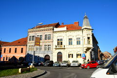 Typical landscape of downtown Brasov Royalty Free Stock Photos