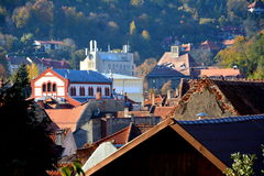 Typical landscape of downtown Brasov Stock Image