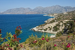 Crete. Typical landscape in the east of Crete Royalty Free Stock Images