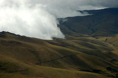Typical landscape in Ecuador Andes. Royalty Free Stock Photo