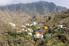 Typical landscape on Gomera island, Spain Stock Photo