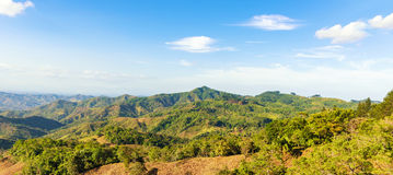 Typical landscape at interior of Azuero Peninsula in Panama. Panoramic landscape from interior in Azuero peninsula in Panama stock photos