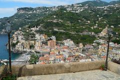 The towns of the Amalfi coast, in Italy. stock photo