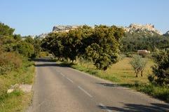 Typical landscape of Les Baux de Provence in Provence Stock Photo