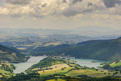 Typical landscape in Marche Stock Photo