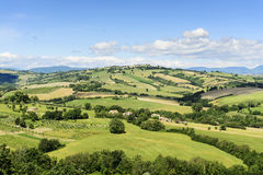 Typical landscape Marche. Typical landscape near Urbisaglia in Marche, Italy stock photo
