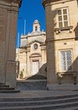 Malta, Three Cities, Landscape of Middle Ages architecture in L-Isla, Valletta. Typical landscape of Middle Ages architecture in L-Isla, one of the Three Cities stock photo