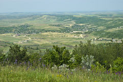 Typical landscape of moldova. Typical rural view of Moldova. hills, villages and farms Stock Photography