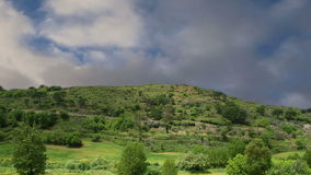 A typical landscape of a mountain valley in Sicily, Italy stock footage