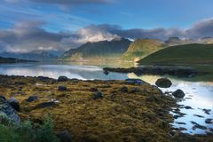 Typical landscape of northern Norway stock photography