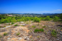 Typical landscape of provence Stock Image