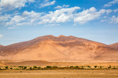 Typical landscape of southern Morocco. Royalty Free Stock Photo