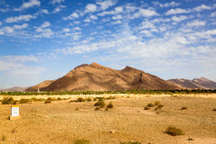 Typical landscape of southern Morocco. Stock Images