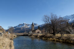 Typical landscape in switzerland Royalty Free Stock Image