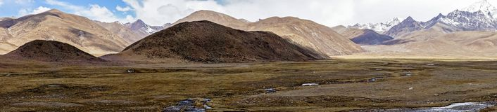 Panoramic view typical mountain landscape - Tibet Royalty Free Stock Image