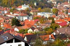 Typical landscape in the city Brasov, Transylvania, Romania, Autumn characteristic colors Stock Photo
