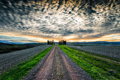 Typical landscape of Tuscany Stock Photos
