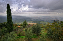 Typical landscape in the Tuscany. Stock Photography