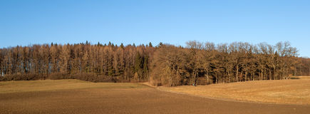 Typical landscape in the wintertime in Bavaria Stock Photos