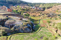 Typical Landscapes of Madagascar Royalty Free Stock Images