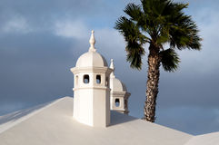 Typical Lanzarote Chimneys Royalty Free Stock Photography