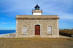 Typical lighthouse in Spain Stock Photo