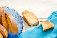 Typical ligurian dried biscuits called Lagaccio Stock Image