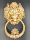 Typical lion door knocker in Venice stock image