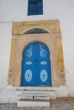 Typical local door of traditional home, Tunis, Tunisia Stock Images
