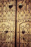Typical local door of traditional home; Tunis; Tunisia Royalty Free Stock Image