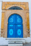Typical local door of traditional home; Tunis; Tunisia Stock Photos