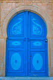 Typical local door of traditional home; Tunis; Tunisia Stock Photography