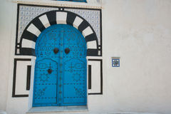 Typical local door of traditional house, Tunis, Tunisia Stock Photo