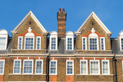 Typical London buildings roofs Stock Images
