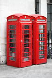 Typical London red telephone booth Stock Photo