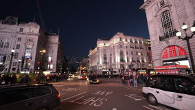 Typical London street view by night great light stock footage