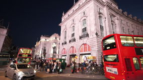 Typical London street view by night great light stock video footage