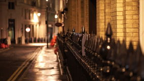 Typical London street view by night very romantic stock footage