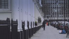 Typical London street view   15th january 2016. England United Kingdom videoclip stock video