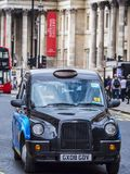 Typical London Taxi Cab at National Gallery Royalty Free Stock Photo