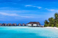 Typical Luxury Overwater Bungalow Royalty Free Stock Image