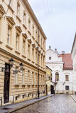Typical  main street with antique buildings in Zagreb,Croatia Royalty Free Stock Image