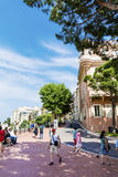 Typical main street in old town in Monaco in a sunny day Stock Photography