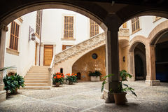 The typical Majorca courtyard Royalty Free Stock Photography