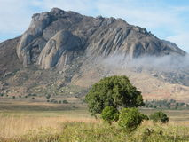 Typical Malagasy Landscape. Of granite mountains royalty free stock photos